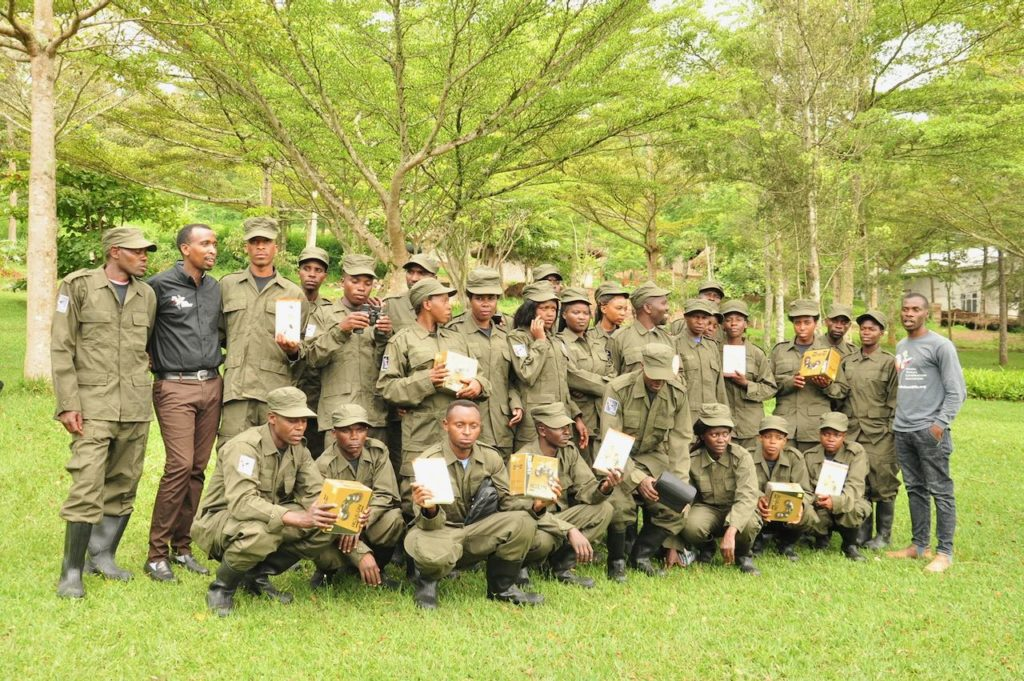 Our team of Community Rangers based at Rugezi Marsh